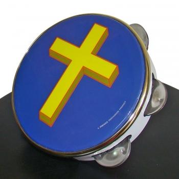 Pandereta religiosa (cruz)